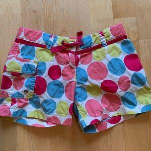Mini Boden girls multi colored shorts